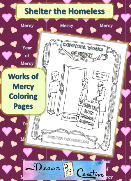 works of mercy coloring pages - photo#24