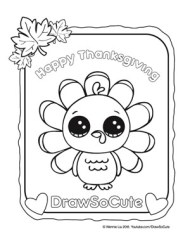 coloring page thanksgiving turkey