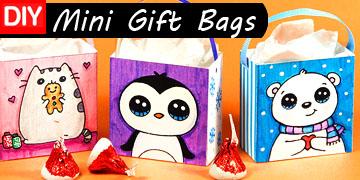 mini gift bags diy craft