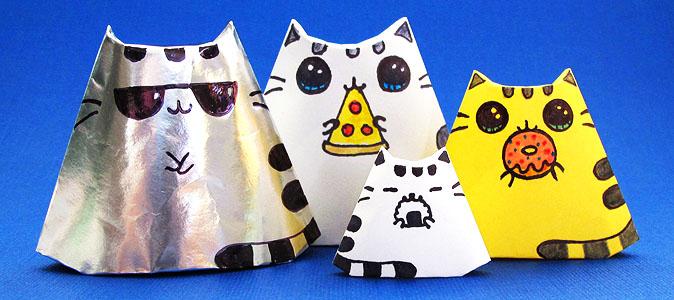 diy pusheen cat origami
