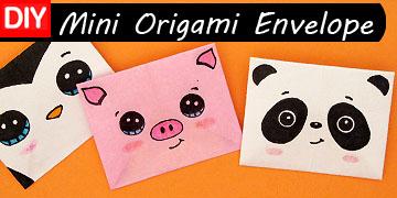 diy mini origami animal envelopes