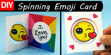 spinning emoji card