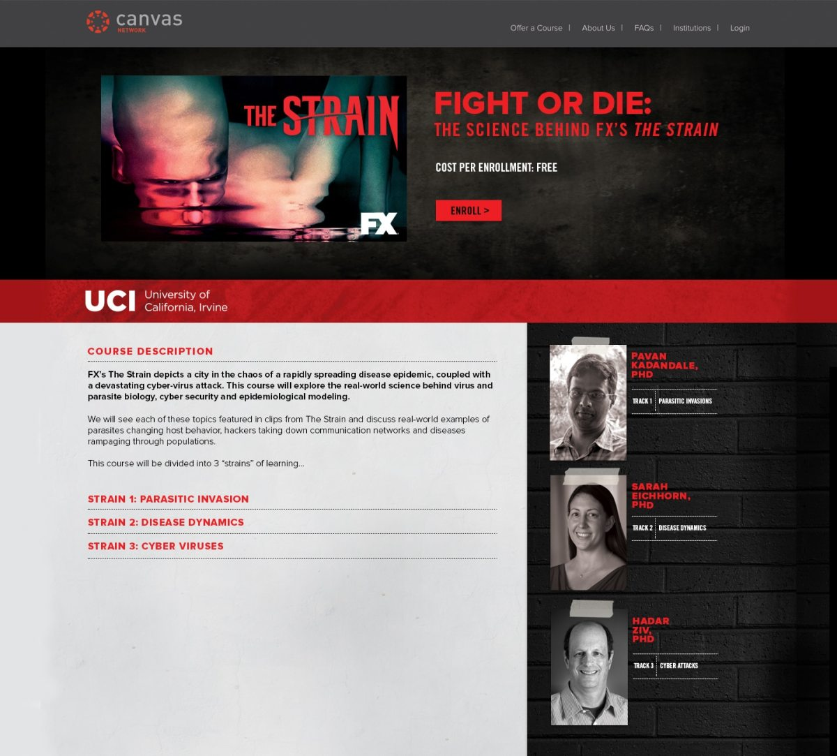 _The Strain_ MOOC registration page