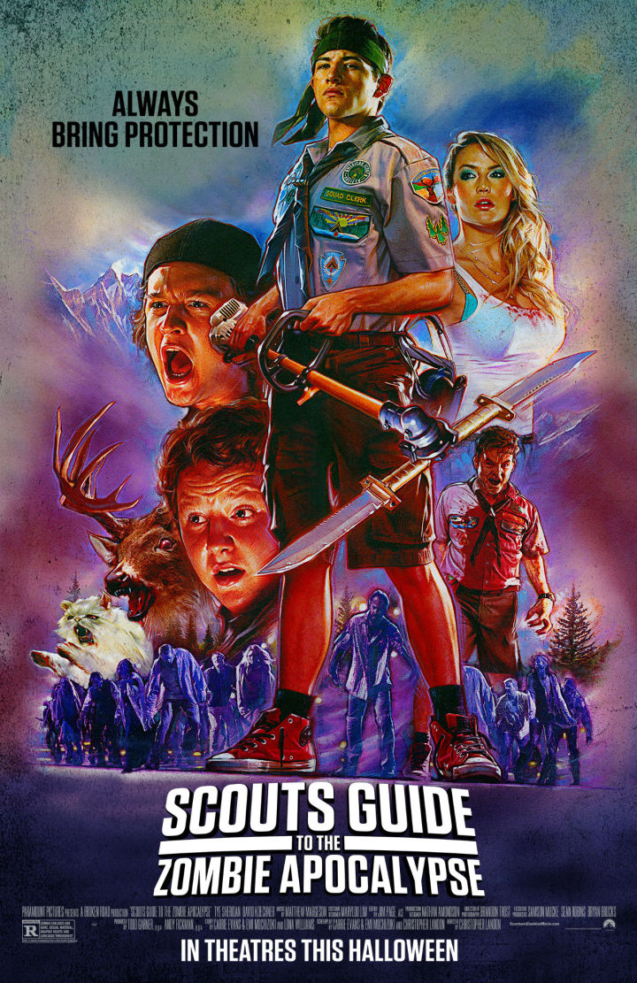 Scouts Guide to the Zombie Apocalypse hand drawn