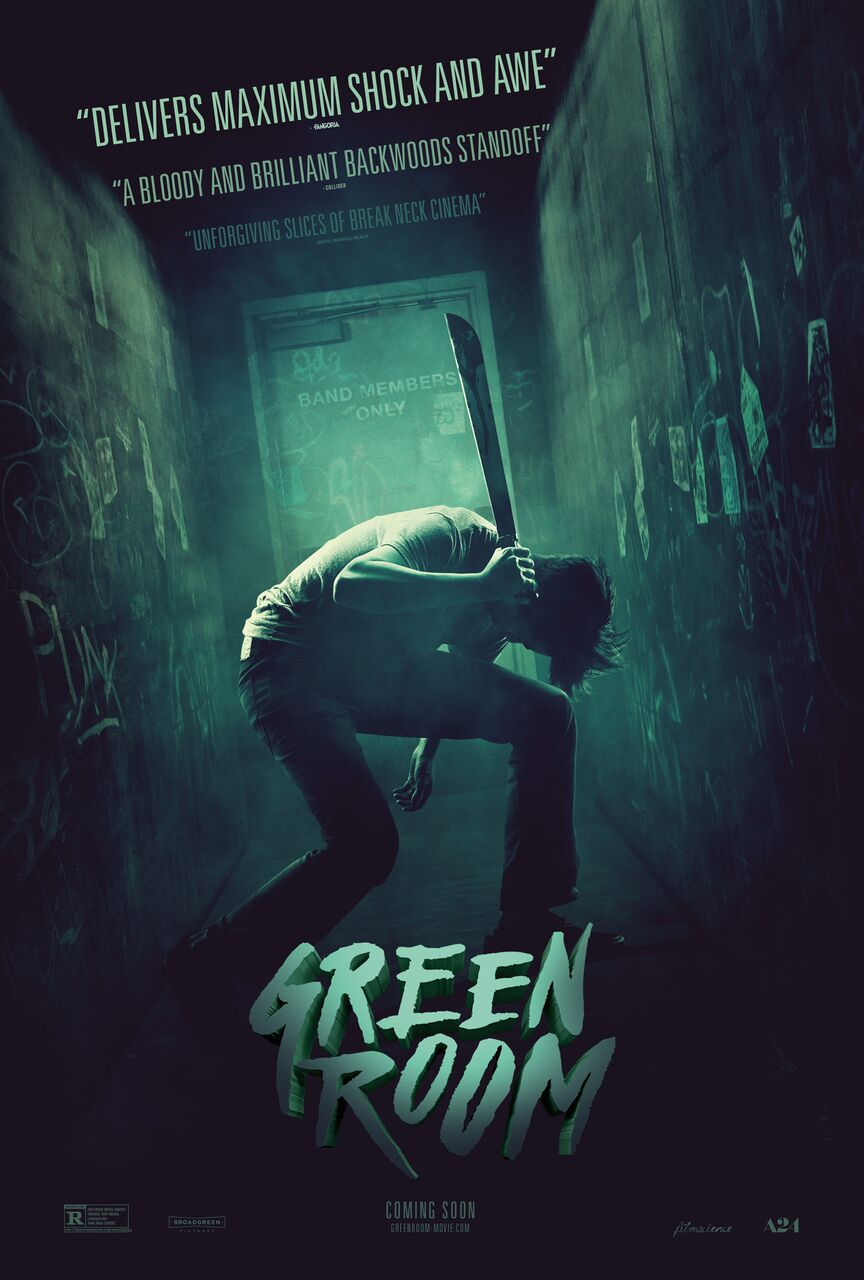 green room poster.jpg?zoom=1 - New Green Room Featurette Tells a Hardcore Horror Story