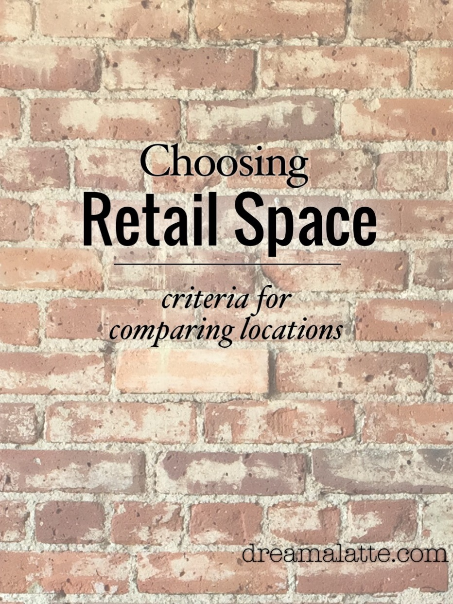 choosing retail space dream a latte i ve broken down the top ten criteria for choosing a retail space to help in your search and give you an idea of important considerations even before you