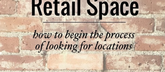 Looking for Retail Space