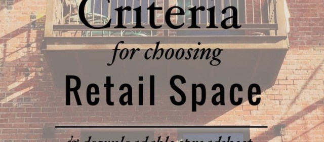 Choosing Retail Space