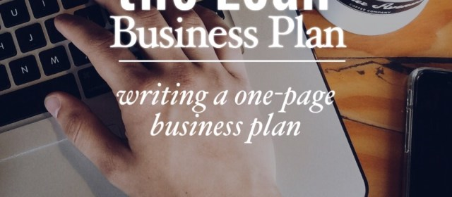 Writing a Lean Business Plan