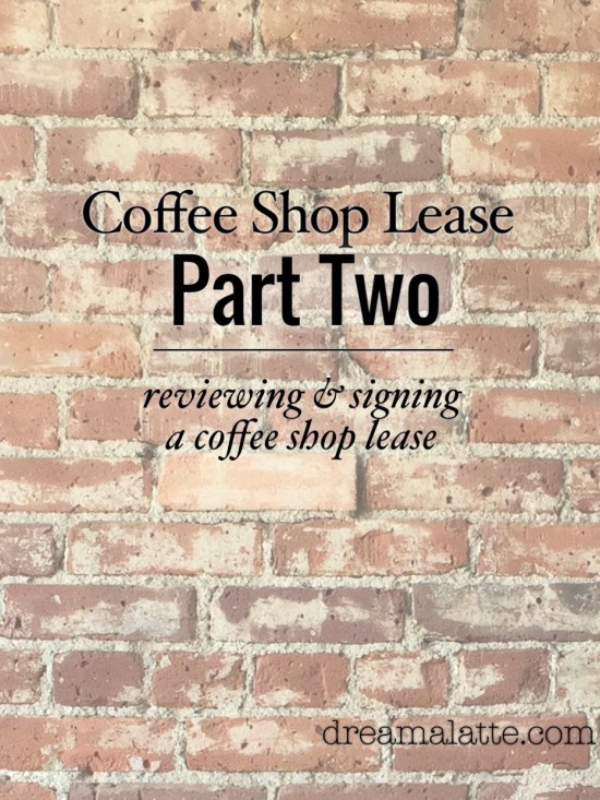 The Coffee Shop Lease