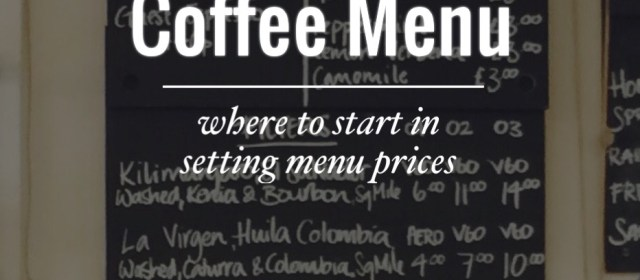 Pricing a Menu