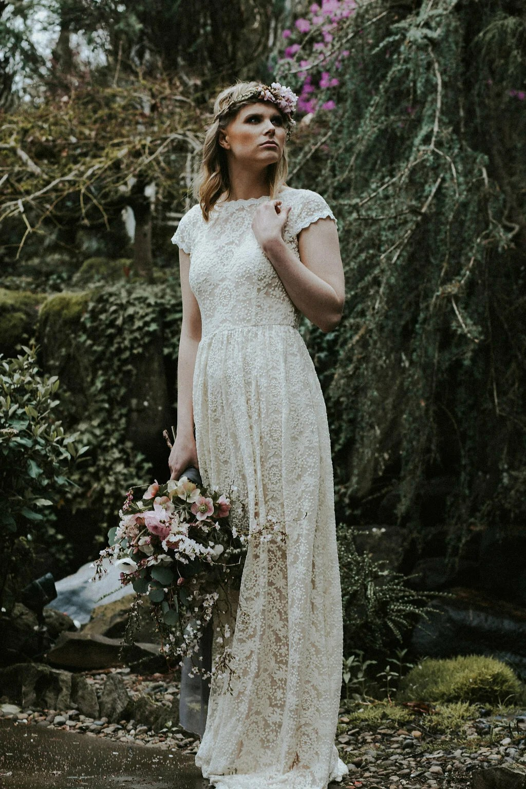 catherine backless simple lace wedding dress backless boho wedding dress dreamers and lovers embroidered lace wedding dress with