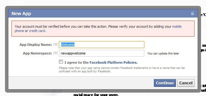 facebook confirm account