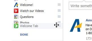 facebook page tab dragging