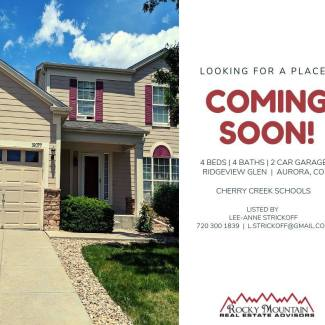 COMING SOON IN RIDGEVIEW GLEN