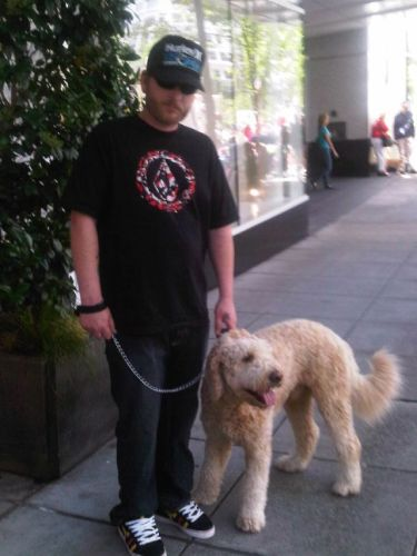 My husband Roy and Toby in Portland