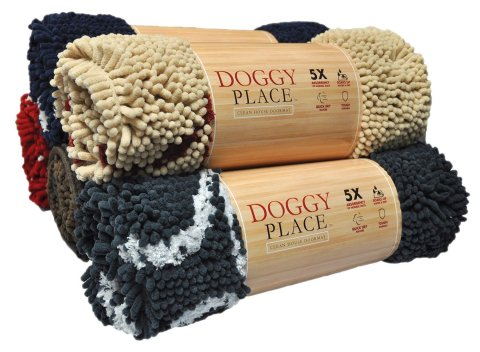 My Doggy Place-Ultra Absorbent Microfiber Chenille Dog Door Mat, Durable, Quick Drying, Washable, Prevent Mud Dirt(Colors: Red, Oatmeal, Brown, Charcoal, Navy Blue; Sizes:Medium,Large,X-Large Runner)