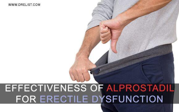 Effectiveness Of Alprostadil For Erectile Dysfunction image