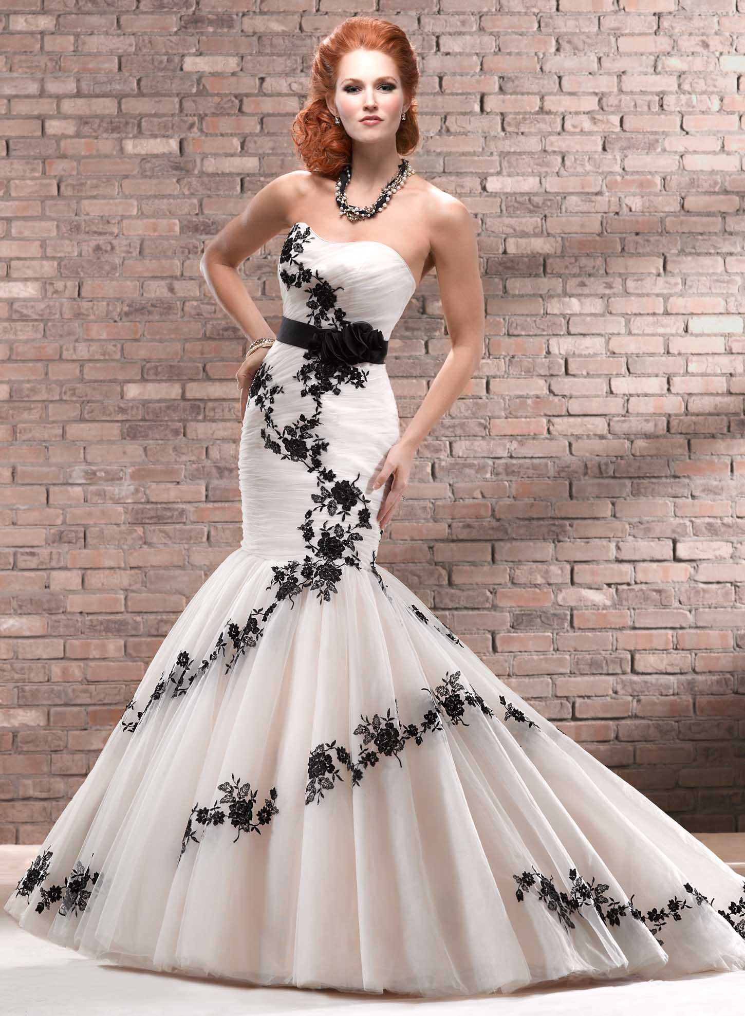 black wedding dresses wedding dresses black Black and White Wedding Dresses