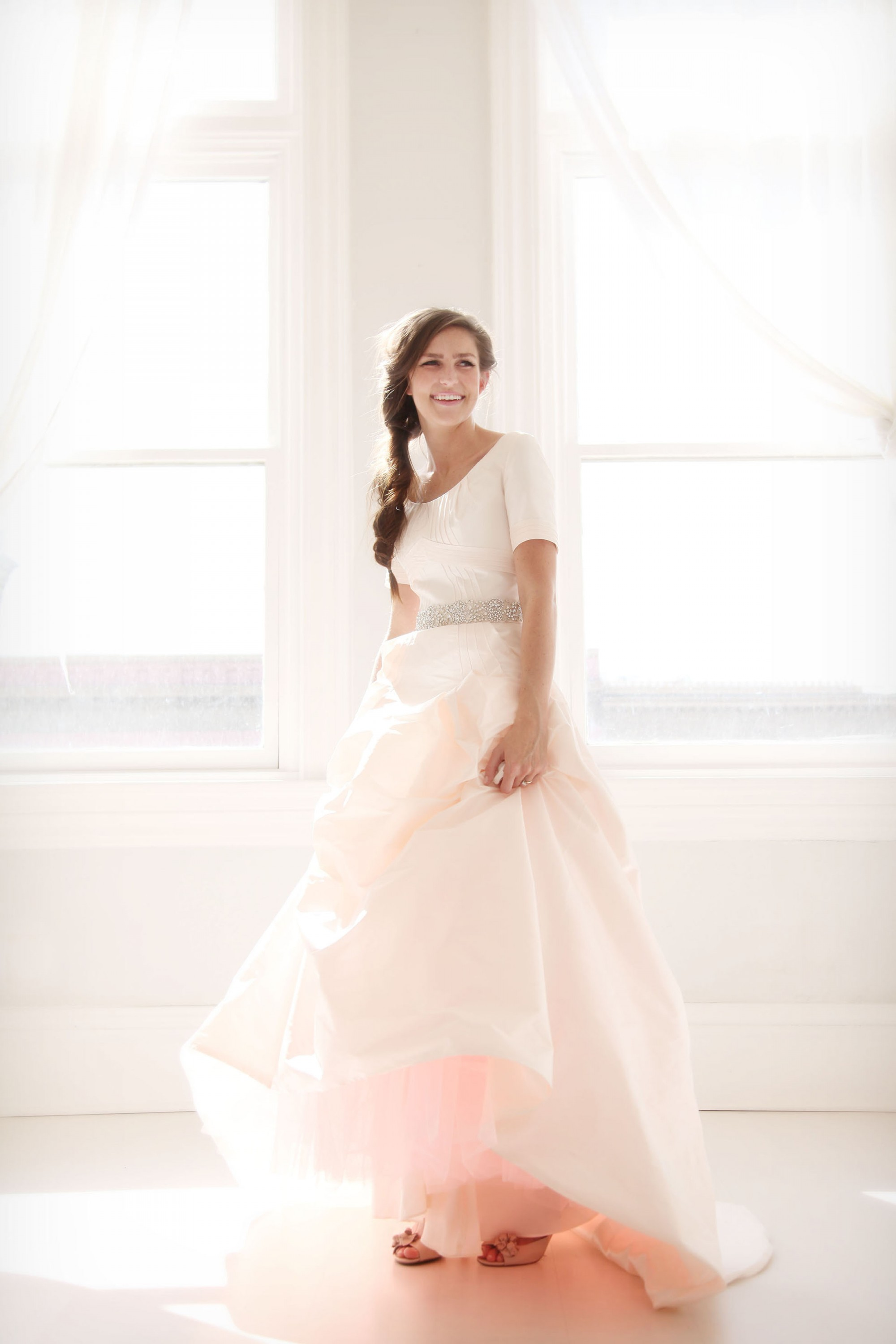 blush wedding dress pink wedding dress Blushing Pink Wedding Dress