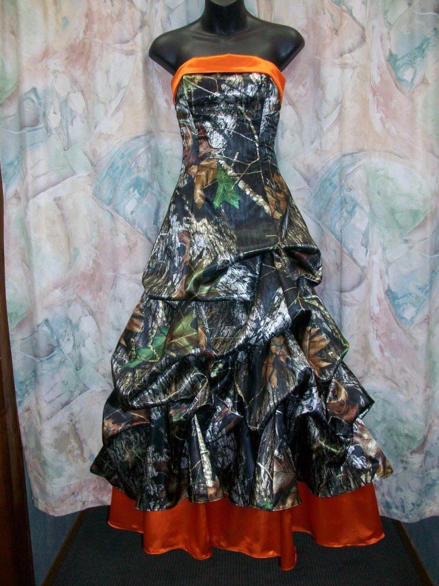 camo wedding dresses camouflage wedding dress Orange Camo Wedding Dresses
