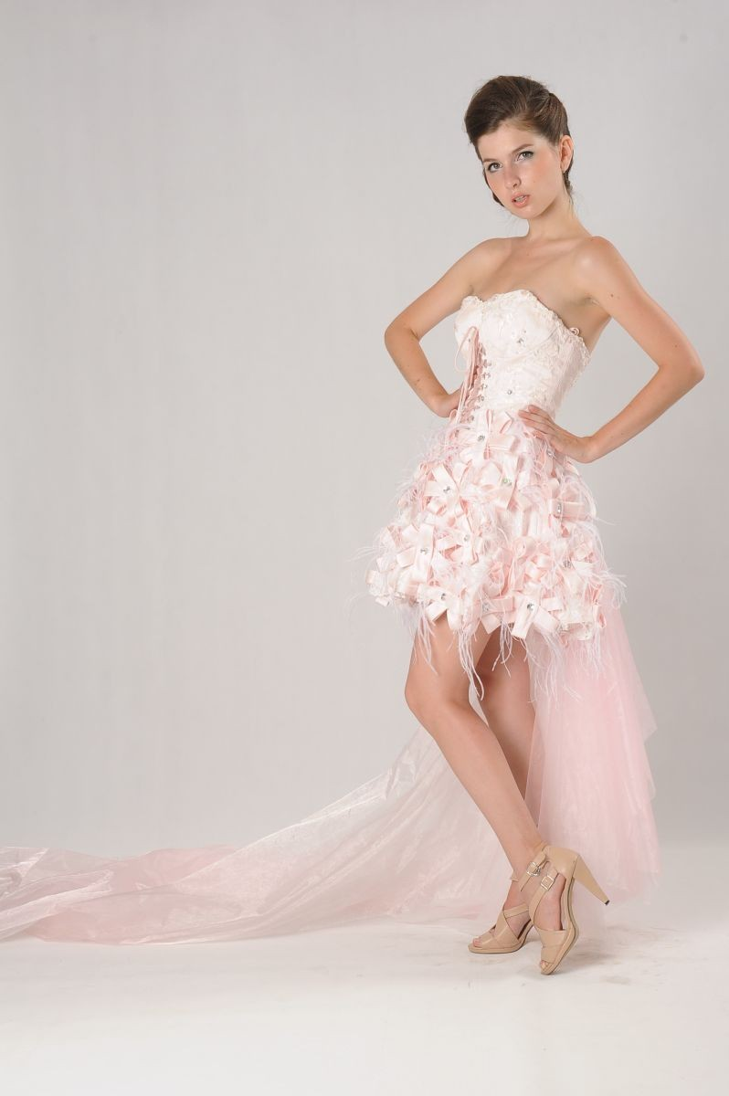 pink wedding dress pink wedding dress Short Pink Wedding Dresses