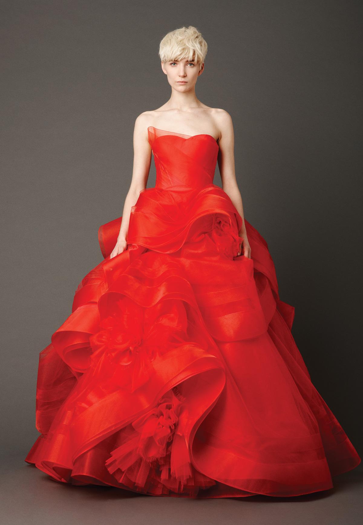 red wedding dresses red wedding dresses Vera Wang Red Wedding Dress