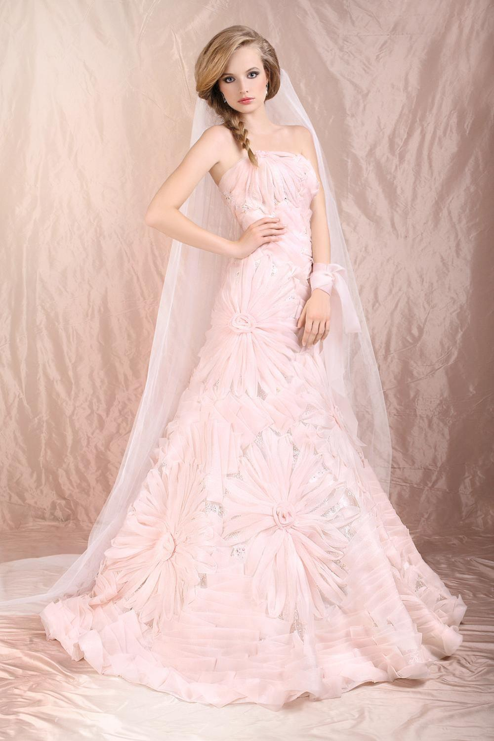blush wedding dress pink wedding dress Wedding Dress Blush