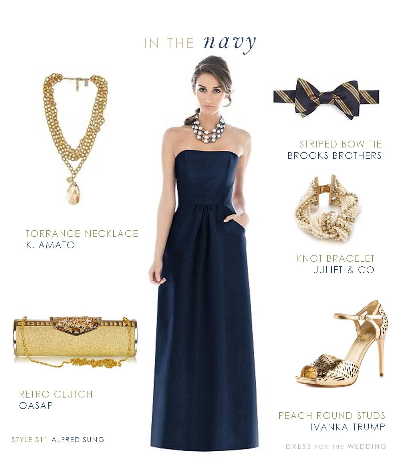 navy gold wedding navy dresses for weddings