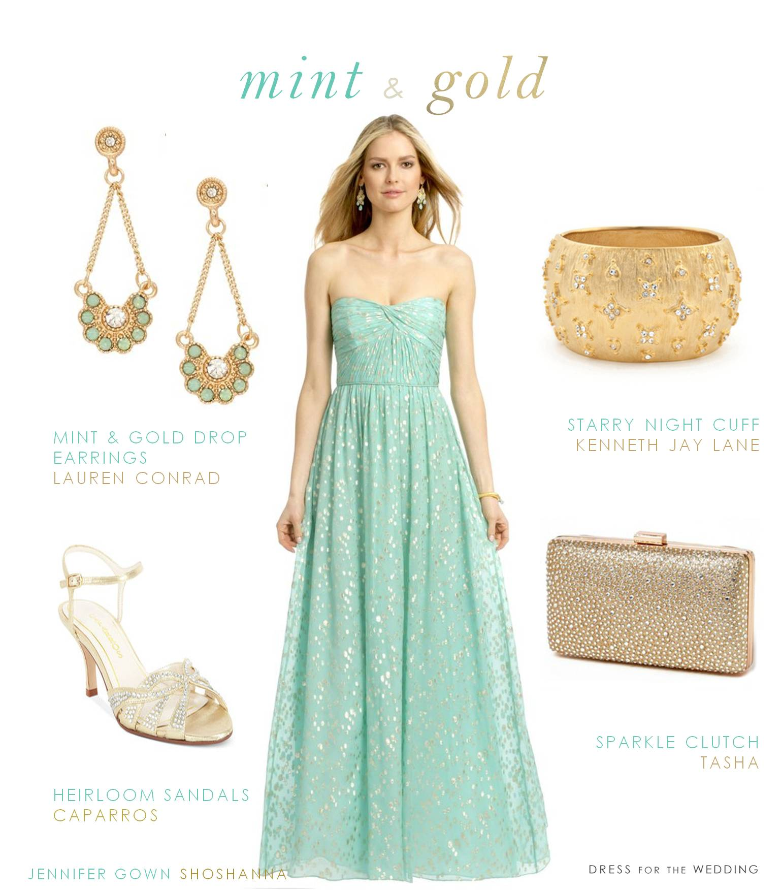 mint and gold dress gold dress for wedding