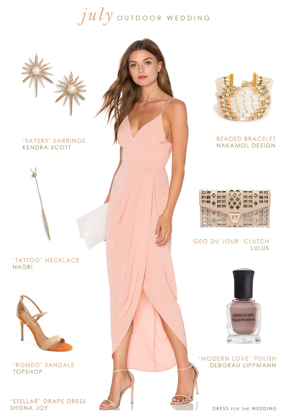 wear outdoor july wedding wedding guest attire What To Wear to a July Outdoor Wedding