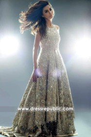 DR14342 - Designer Pakistani Bridal Lehenga for Walima Reception