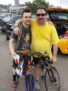 Andrew Bowman and Drew after the ride.
