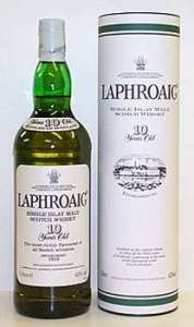 laphroaig 10 year 178x300 Review (Plus Live Tasting): Laphroaig 10 Years Old and Quarter Cask Scotch