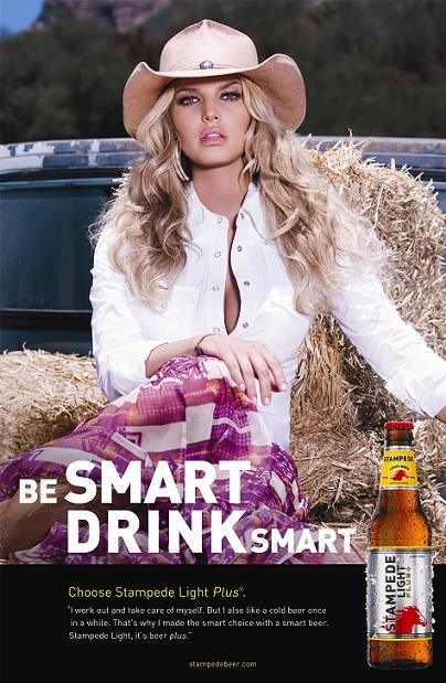 jessica simpson stampede Jessica Simpson Drinks Beer