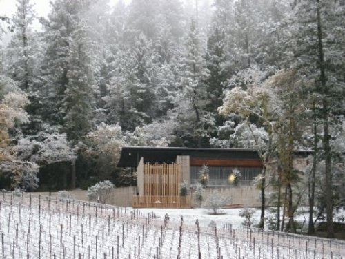 snow at cade in napa How Cold Is It?