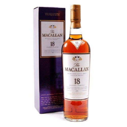 macallan 18 year sherry oak Review: Macallan 18 Year Sherry Oak Scotch