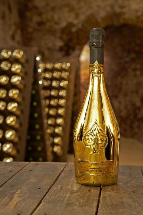 ArmanddeBrgnac Brut Gold in cellar