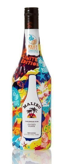 malibu reef check special edition bottle