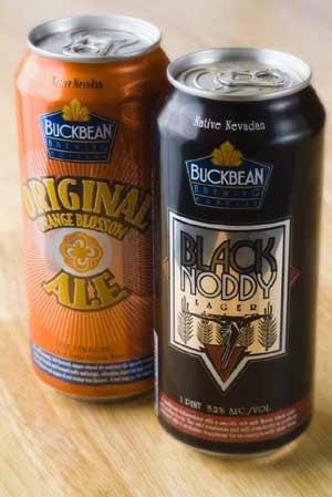 buckbean beer cans