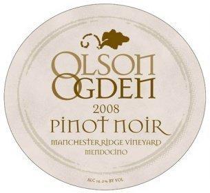 olson ogden 2008 pinot noir manchester ridge Review: 2008 Olson Ogden Pinot Noir Manchester Ridge Mendocino