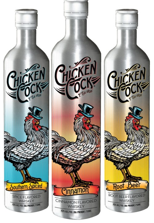 chicken cock whiskey 525x762 Review: Chicken Cock Flavored Whiskeys