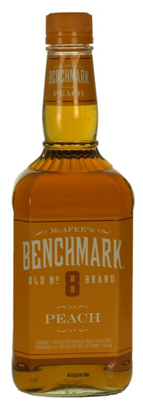 Benchmark No 8 Bourbon Peach 70prf 750ml Glass 421x1200 Review: McAfees Benchmark Peach Liqueur
