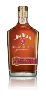 JB SC Harvest Wheat 134x300 Review: Jim Beam Signature Craft Harvest Bourbon Collection   Soft Red Wheat and Rolled Oat