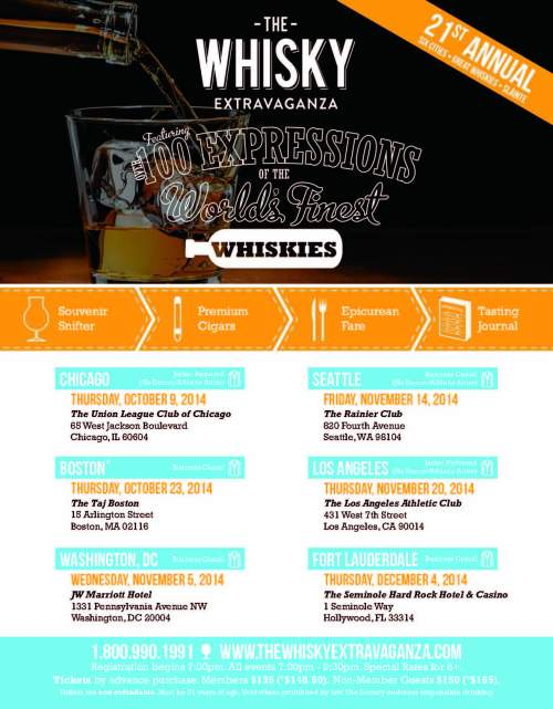 The Whisky Extravaganza fall 2014 525x674 10% Off 2014 Whisky Extravaganza Tickets