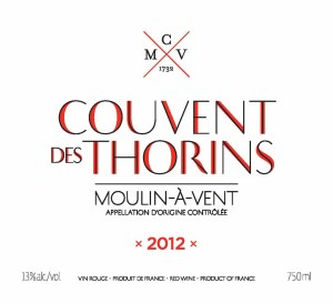 CMV Couvent Des Thorins Brand 300x273 Tasting the Wines of Chateau du Moulin a Vent