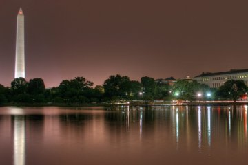 Washington DC at Night. Photo via Flickr Creative Commons by Jonathan