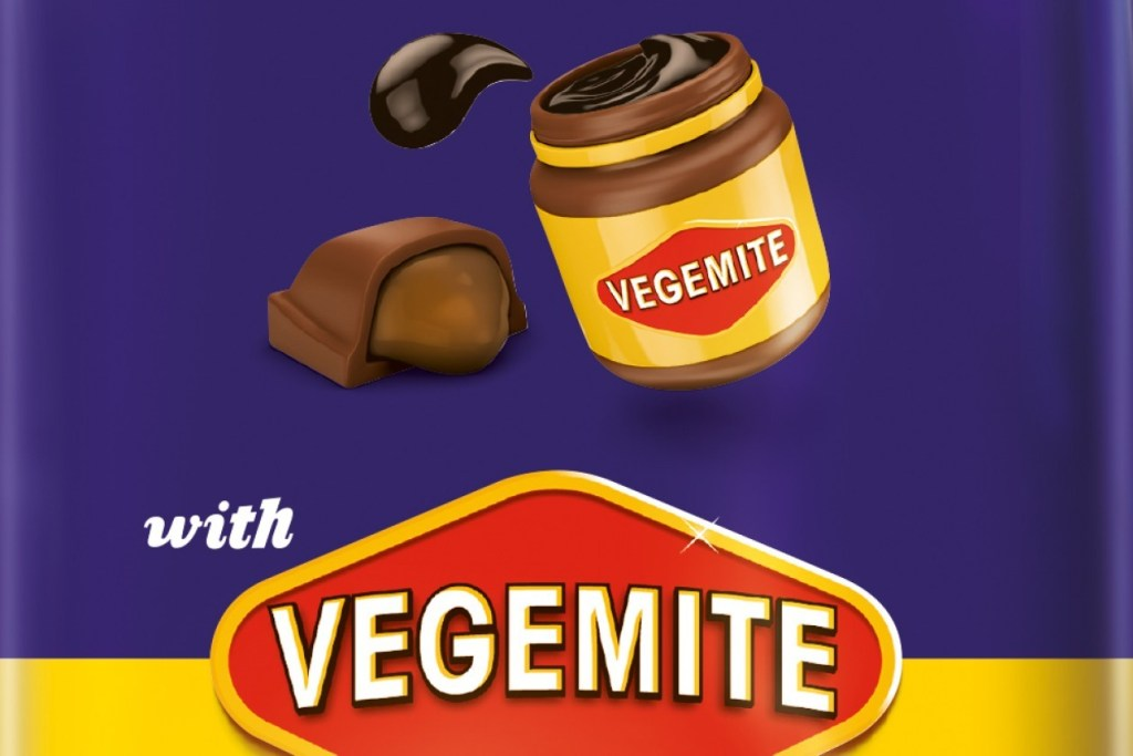 Chocolate with vegemite by Cadbury. Aussie food trend gone a bit too far?
