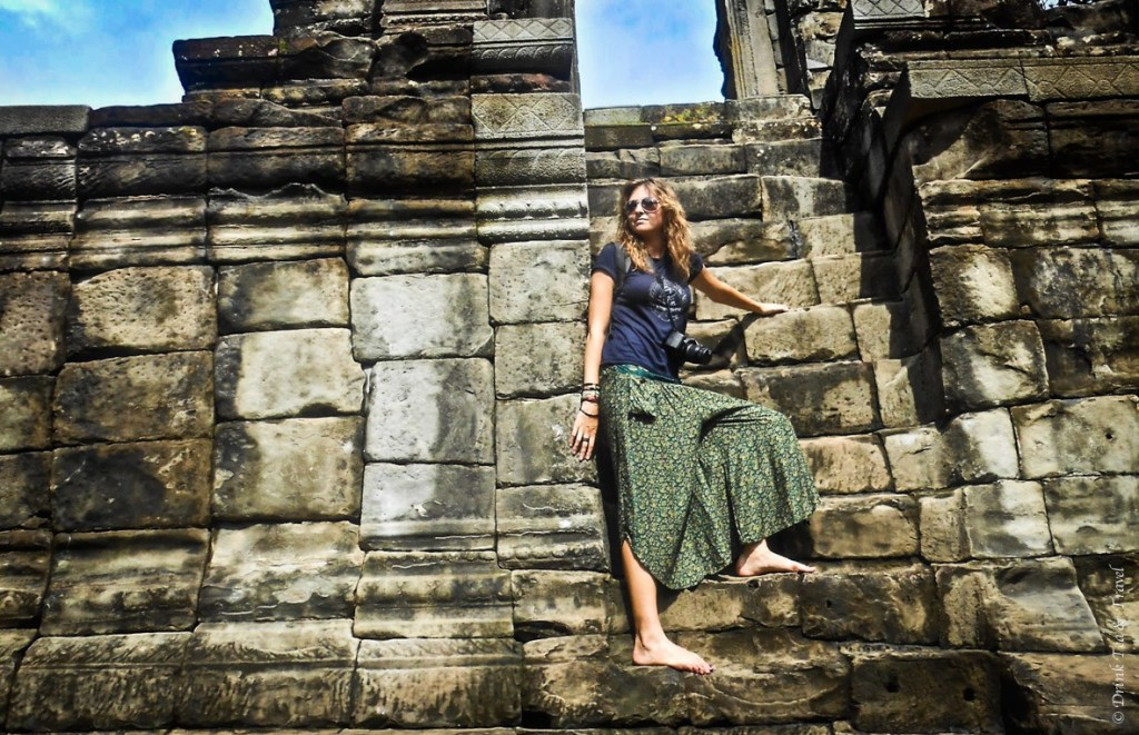 A long pair of pants and a t-shirt were a perfect attire for exploring the temples of Angkor