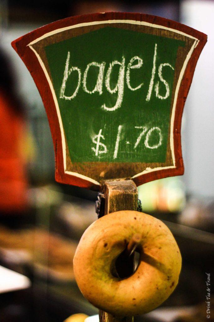 Bagels at the Market Bread Bar, Adelaide Central Market